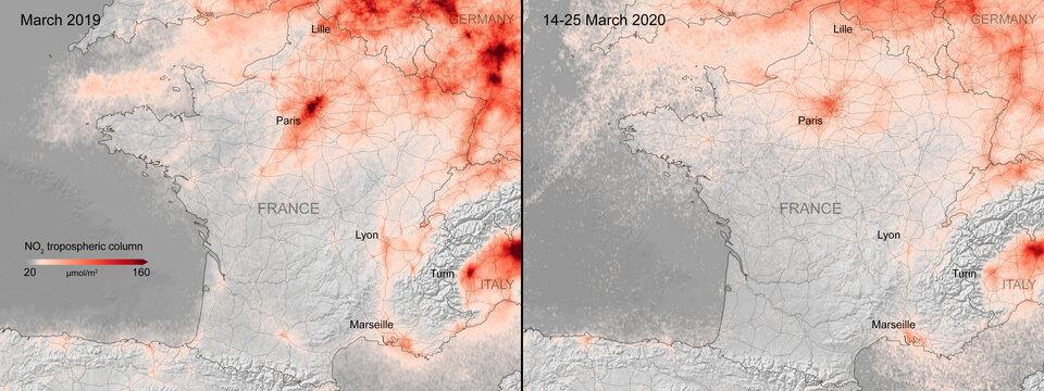 В Европе благодаря карантину очистился воздух