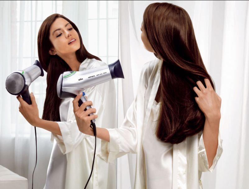 Все о влиянии фена на волосы