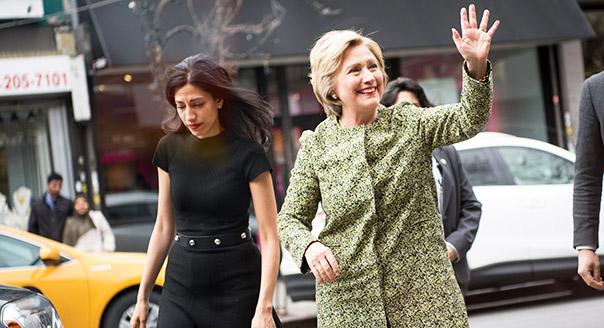 Хума Абедін і Хілларі Клінтон