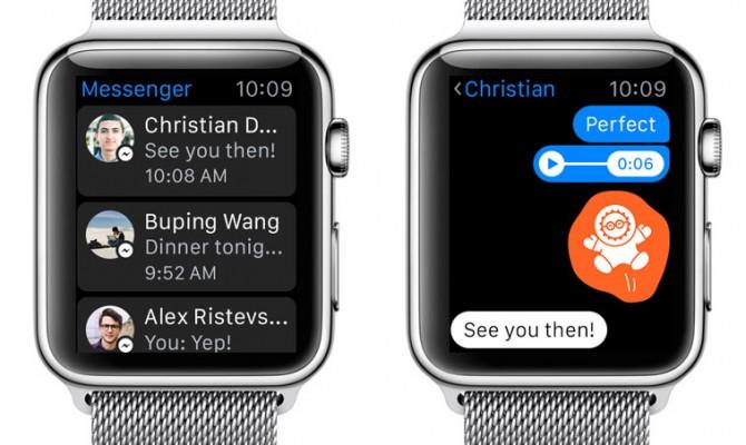 Facebook выпустил Messenger для умных часов от Apple