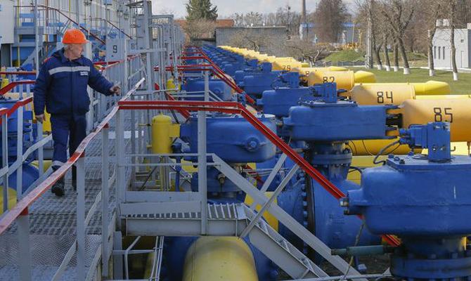 Украина потратила 1 млрд кубометров газа замесяц