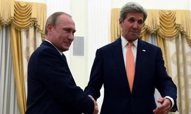 Керри навстрече сПутиным призвал ускорить «минский процесс»