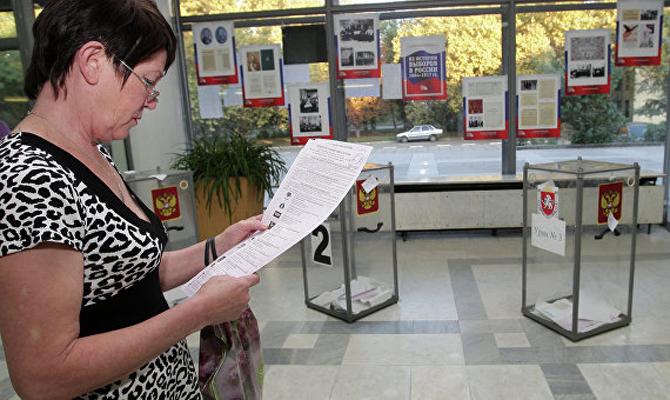 Выборы в Государственную думу: явка вКрыму составила неменее 20%