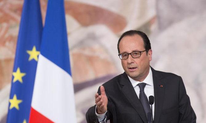 Президент Олланд проведет телефонный разговор сТрампом