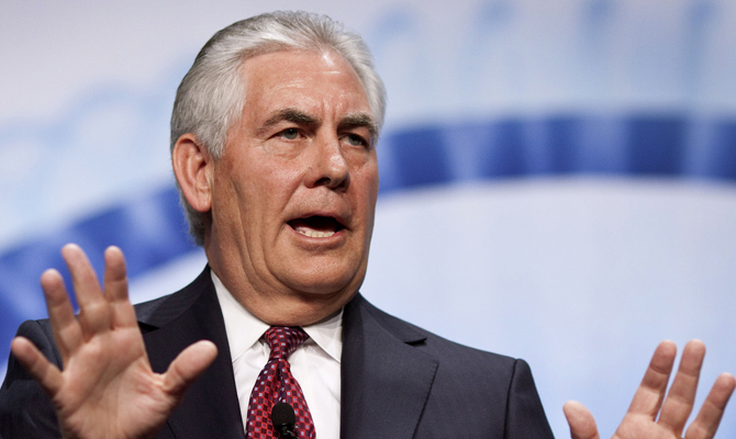 Д.Трамп рассматривает кандидатуру главы Exxon Mobil нагоссекретаря США
