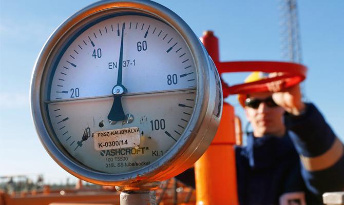 Запасы газа вхранилищах упали ниже 9 млрд кубов