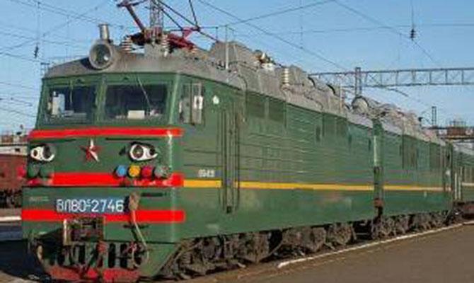 1-ый поезд проехал через блокаду вЛуганской области