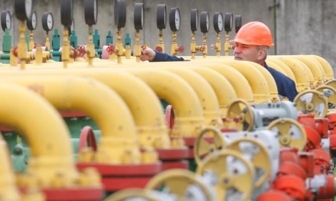 Вукраинских хранилищах осталось 8,2 млрд. кубов газа