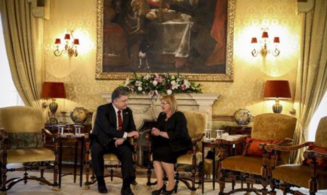 Президенты Украины и Мальты обсудили углубление экономического сотрудничества