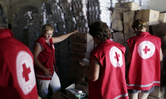 Геращенко: Красный крест попал кукраинским заложникам вДонбассе