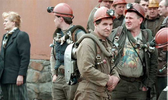 Русская компания дала согласие поднять заработную плату бастующим украинским шахтерам
