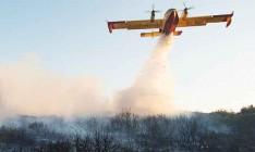 Украинская авиация вторые сутки тушит пожары в лесах Черногории