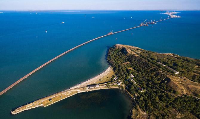 ВКерченском проливе протестировали плавучую систему для транспортировки  арок Крымского моста