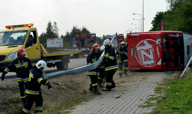 ВПольше в итоге  ДТП спассажирским автобусом пострадали 28 человек
