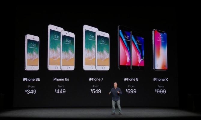 Стали известны цены на iPhone 8 и iPhone X в Украине
