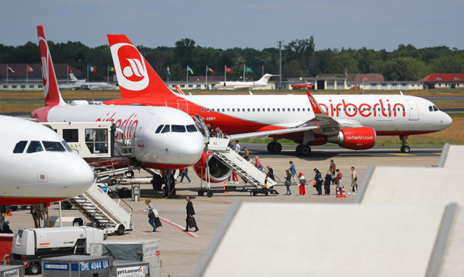 Air Berlin прекращает полёты с28октября