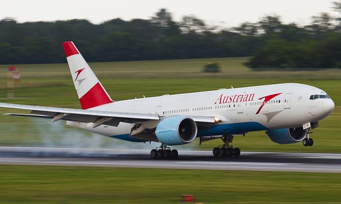 Austrian Airlines будет выполнять зимние авиарейсы изчетырех городов государства Украины