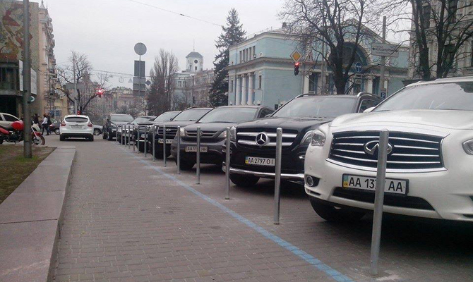 Где могут запретить оставлять машину (список улиц)— стоянка вКиеве