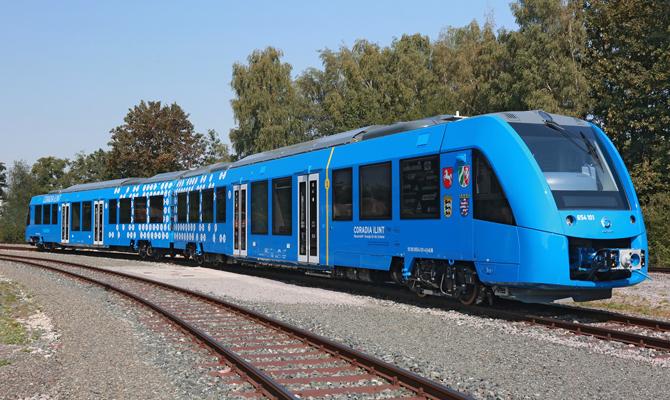 ВГермании построили эко-поезд, наводородном горючем