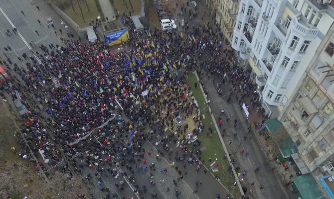 Вцентре украинской столицы  запорядком смотрят  практически  2 тыс. правоохранителей