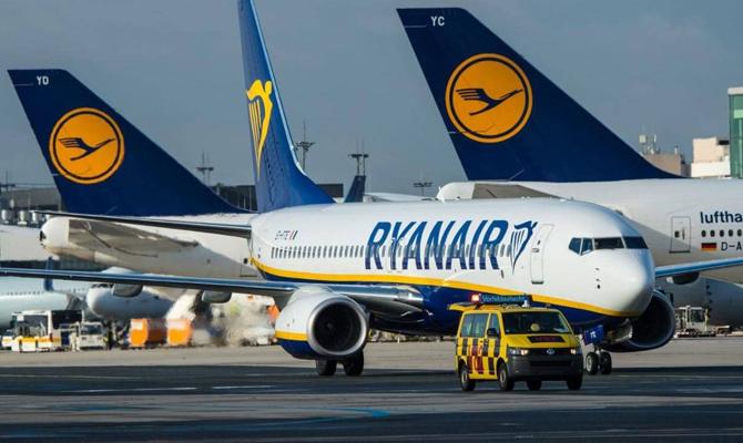 Цены на билеты Ryanair из Украины будут стартовать от 20 евро