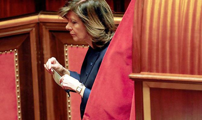Председателем Сената Италии впервый раз стала женщина