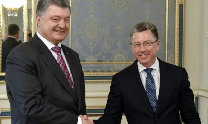Порошенко иВолкер обсудили ситуацию вДонбассе ипартнерство Украины сНАТО