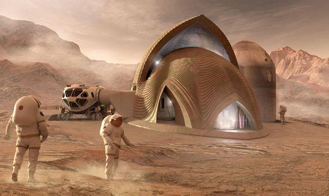 NASA показало проекты жилья наМарсе