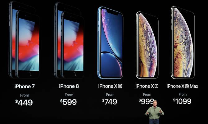 Акции Apple упали вцене после презентации новых айфонов