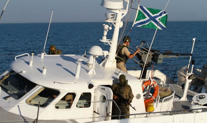В Азовском море российские пограничники задержали украинских рыбаков