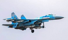 В Украине во время учений упал самолет Су-27