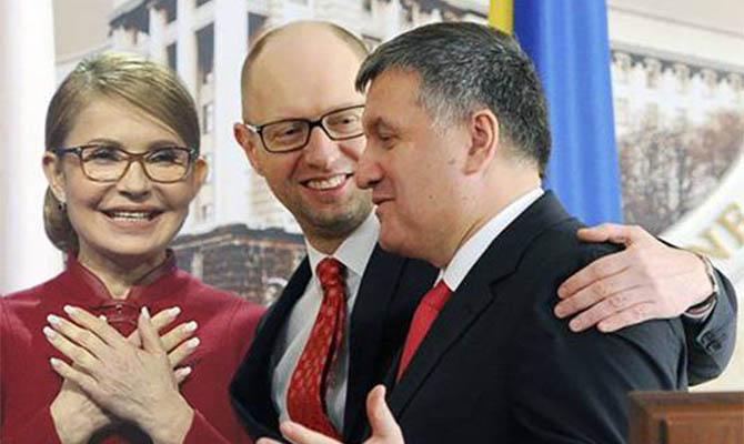 СМИ сообщили о заговоре Тимошенко и «Народного фронта»: Яценюк - премьер, Аваков - министр