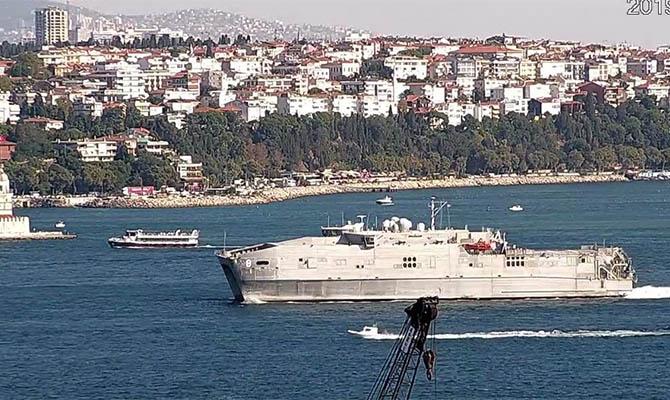 В Черное море зашел корабль ВМС США