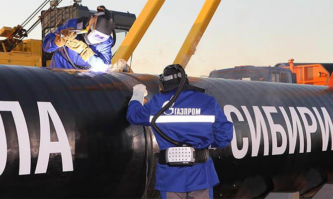 «Газпром» запустил первый газопровод в Китай