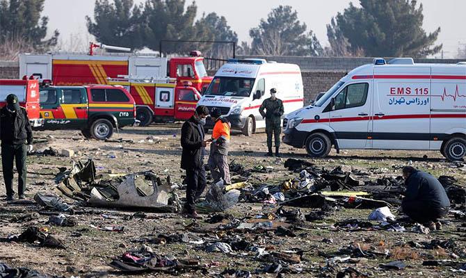 Украина просит Иран передать украинским правоохранителям «черные ящики» сбитого самолета