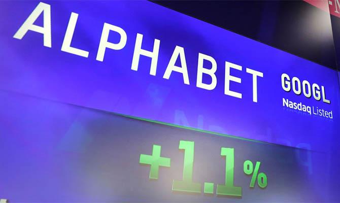 Alphabet стала четвертой в мире компанией с капитализацией более $1 трлн