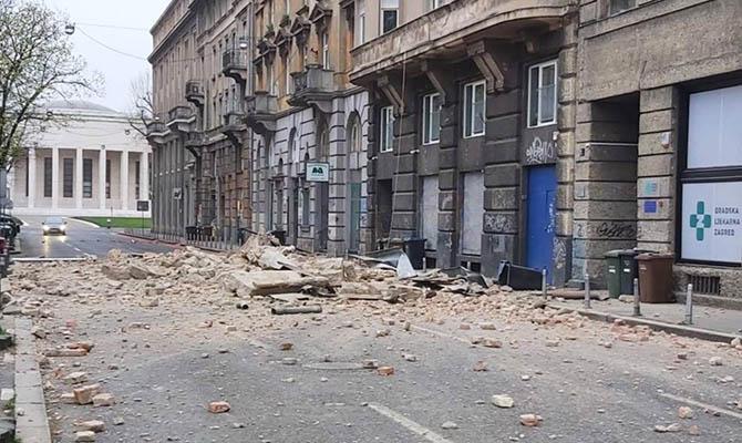 В Хорватии за утро произошли два мощных землетрясения