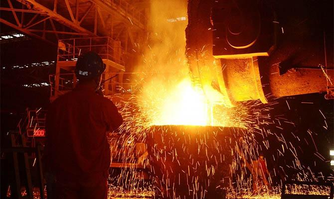 В Украине сократилось металлургическое производство