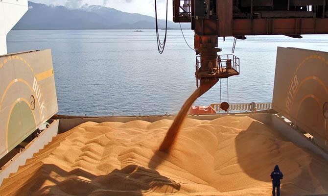 Украина нарастила экспорт зерна более чем на 18%