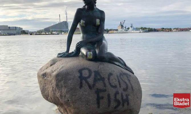 В Копенгагене в очередной раз осквернили памятник Русалочке