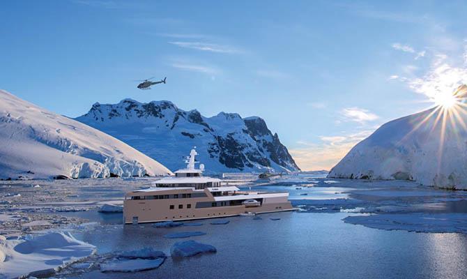 В Нидерландах спустили на воду первую в мире частную яхту-ледокол