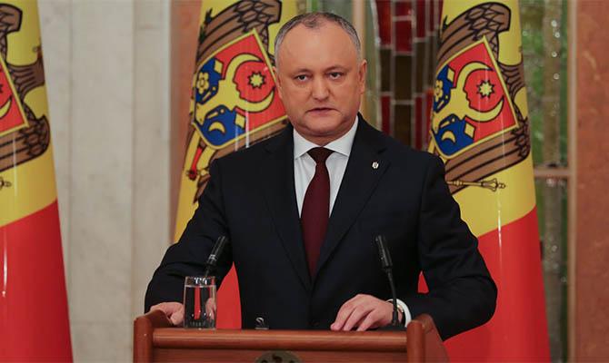 Додон будет баллотироваться на второй президентский срок в Молдове