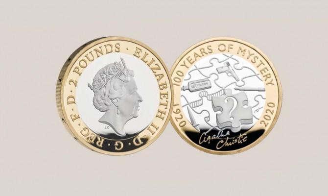 В Великобритании выпустили монеты к столетию первого романа Агаты Кристи