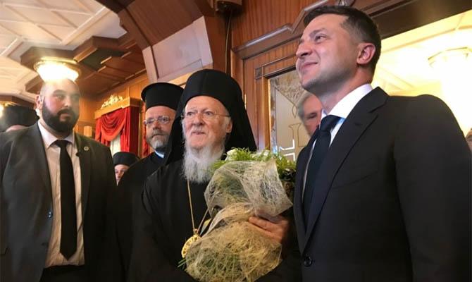 Зеленский пригласил Вселенского патриарха в Украину
