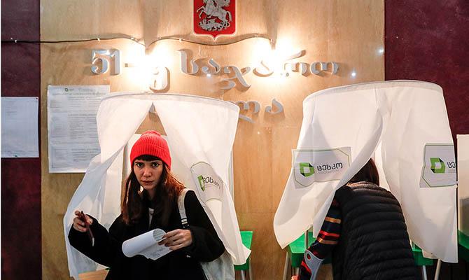 Правящая партия Грузии побеждает на парламентских выборах