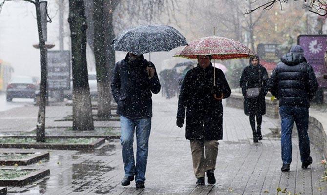 В некоторых областях Украины сегодня выпадет первый снег