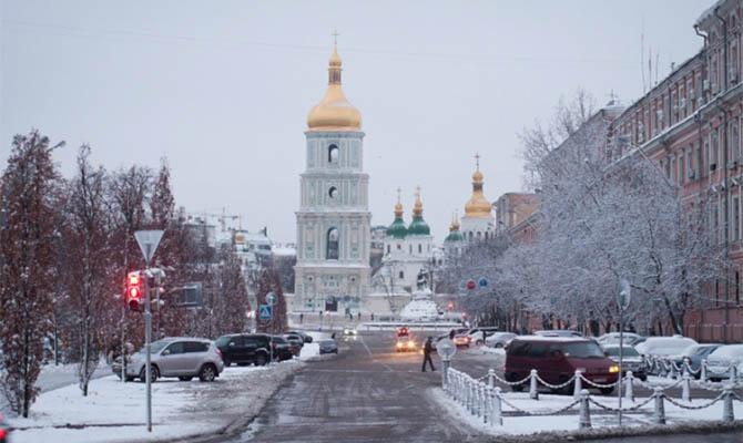 В Украину идут снегопады и резкое похолодание
