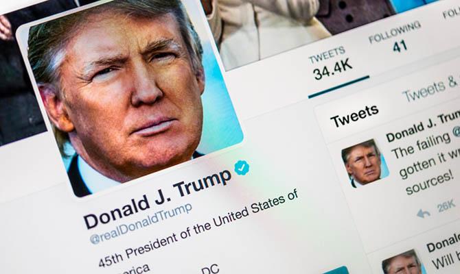 Акции Twitter упали уже более чем на 10% на фоне блокировки аккаунта Трампа