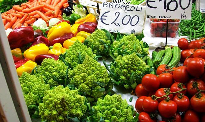 В Украине за год подешевели овощи