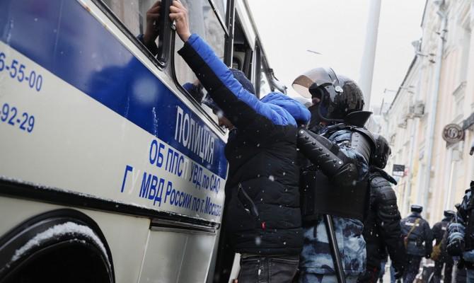 В Москве начались задержания участников акции в поддержку Навального